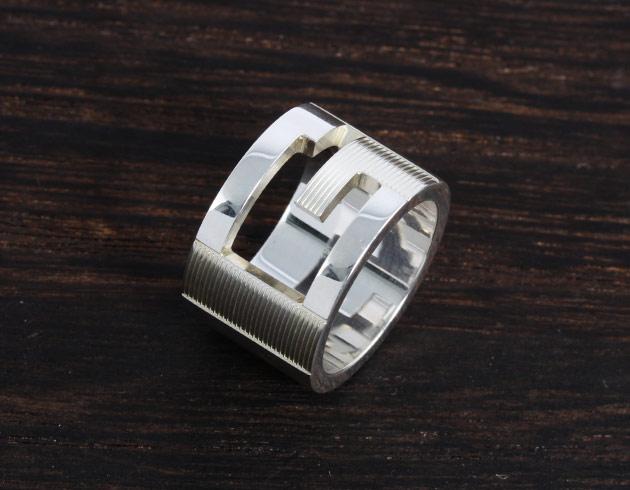 グッチ リング【指輪】 アクセサリー メンズ レディース シルバー 032666 09840 8106 GUCCI