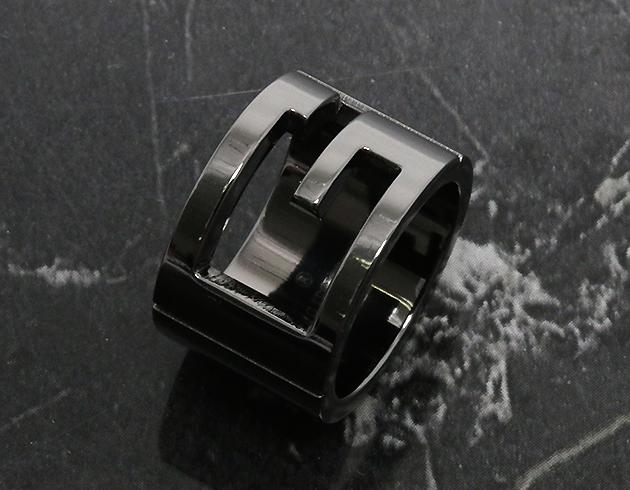 グッチ リング【指輪】 アクセサリー メンズ レディース カットアウトG ガンメタル 224031 J8400 8195 GUCCI