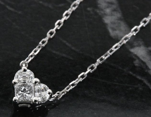 グッチ ネックレス アクセサリー レディース ハート ダイヤモンド ホワイトゴールド 272768 J8540 9066 GUCCI