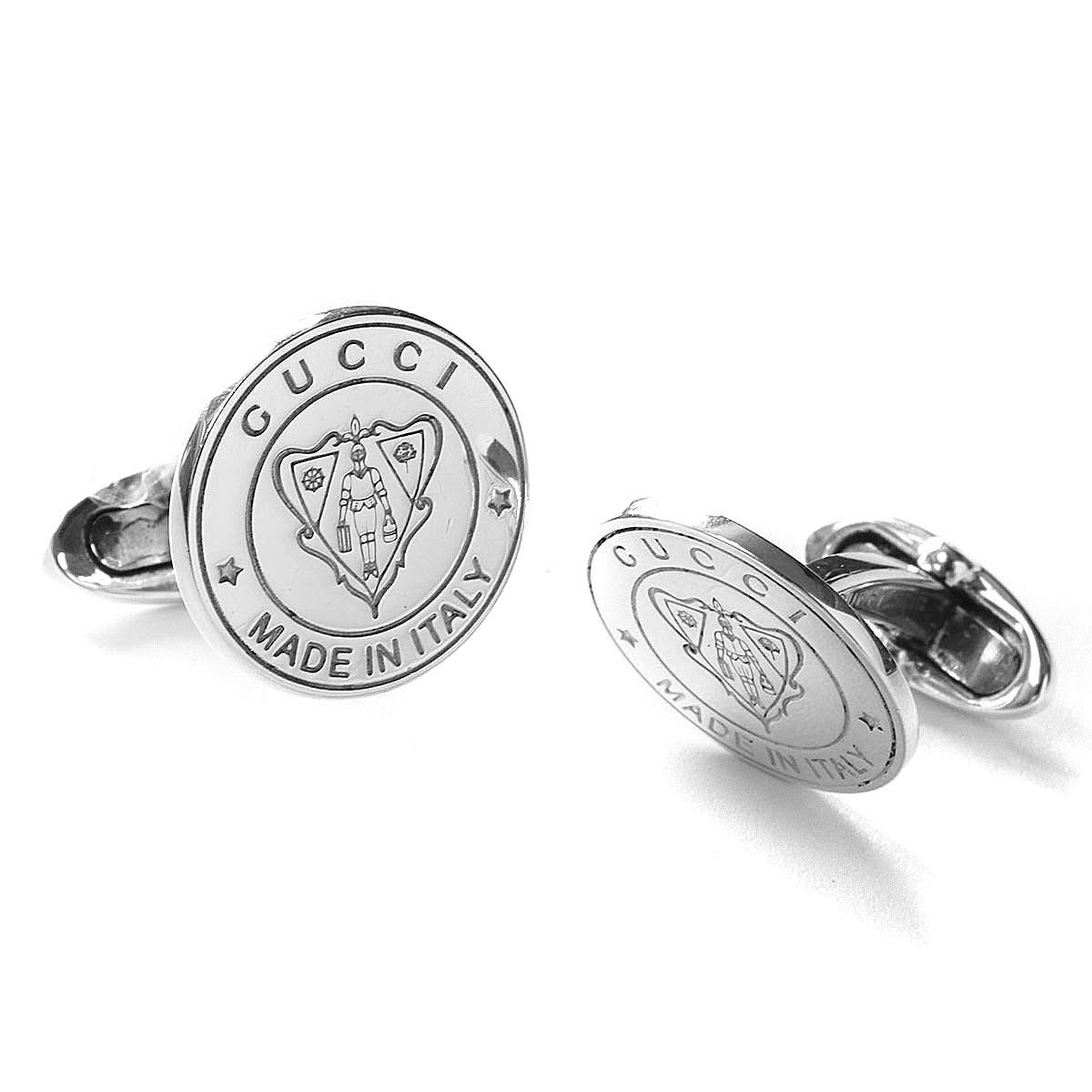 グッチ カフス アクセサリー メンズ クレスト 紋章 シルバー 284548 J8400 8106 GUCCI