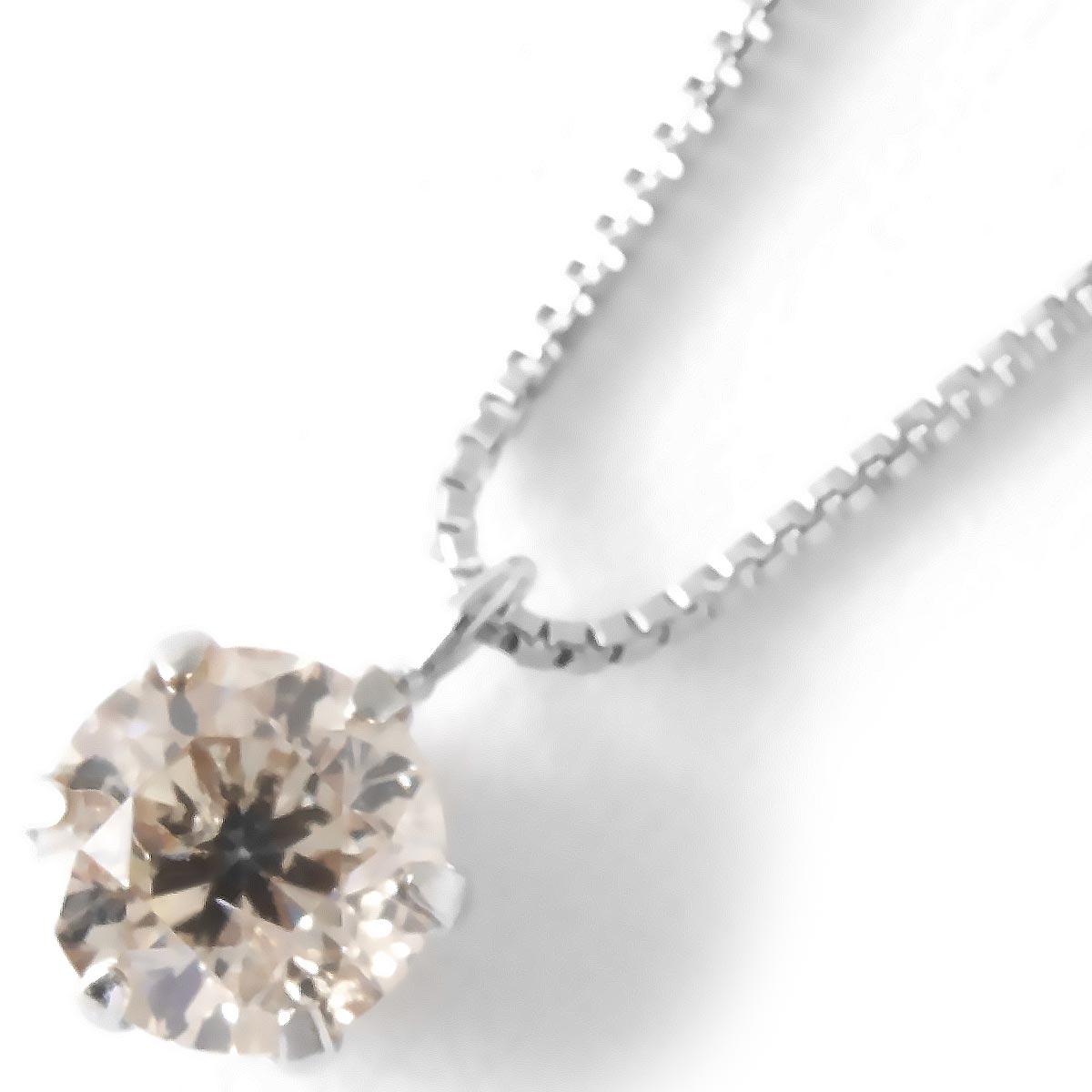 ジュエリー ネックレス アクセサリー レディース ダイヤモンド 一粒 0.3ct プラチナ クリア&シルバー SDFN30 UGL JEWELRY