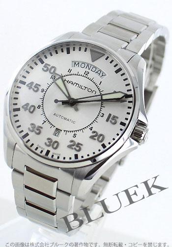 Hamilton Khaki pilot automatic day-date silver mens H64615155