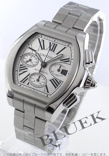 Cartier Roadster XL automatic chronograph rubber silver Roman men's W6206019