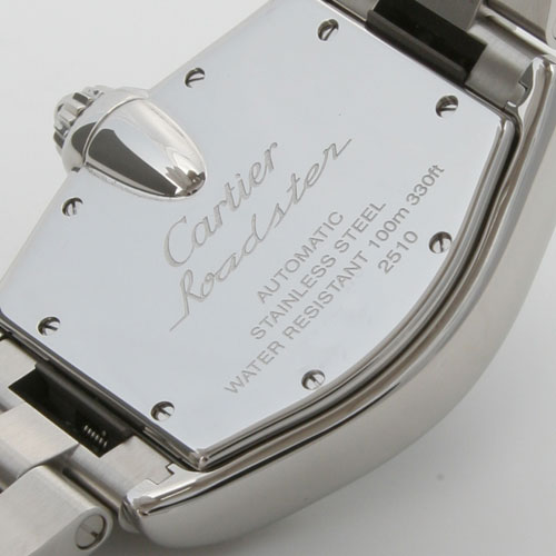 Cartier Roadster XL automatic GMT silver mens replacement belt with W62032X6