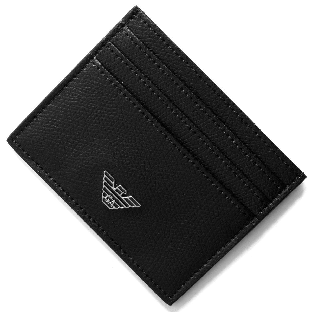 エンポリオアルマーニ クレジットカードケース メンズ イーグルマーク ブラック YEM320 YAQ2E 81072 EMPORIO ARMANI