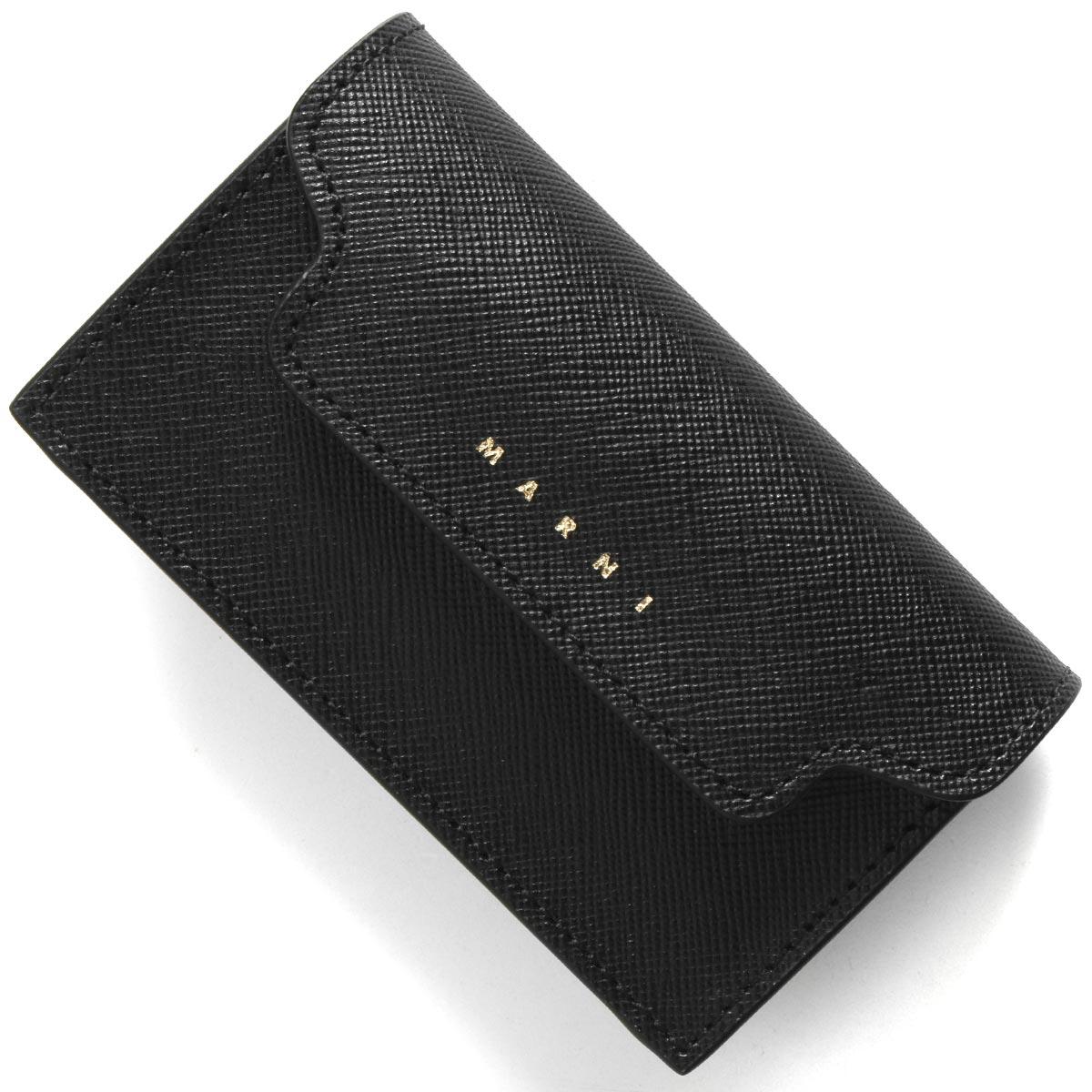 全国送料無料 マルニ 評価 カードケース 名刺入れ レディース Z360N MARNI PFMOT05U07 引出物 LV520 ブラックデューンベージュ