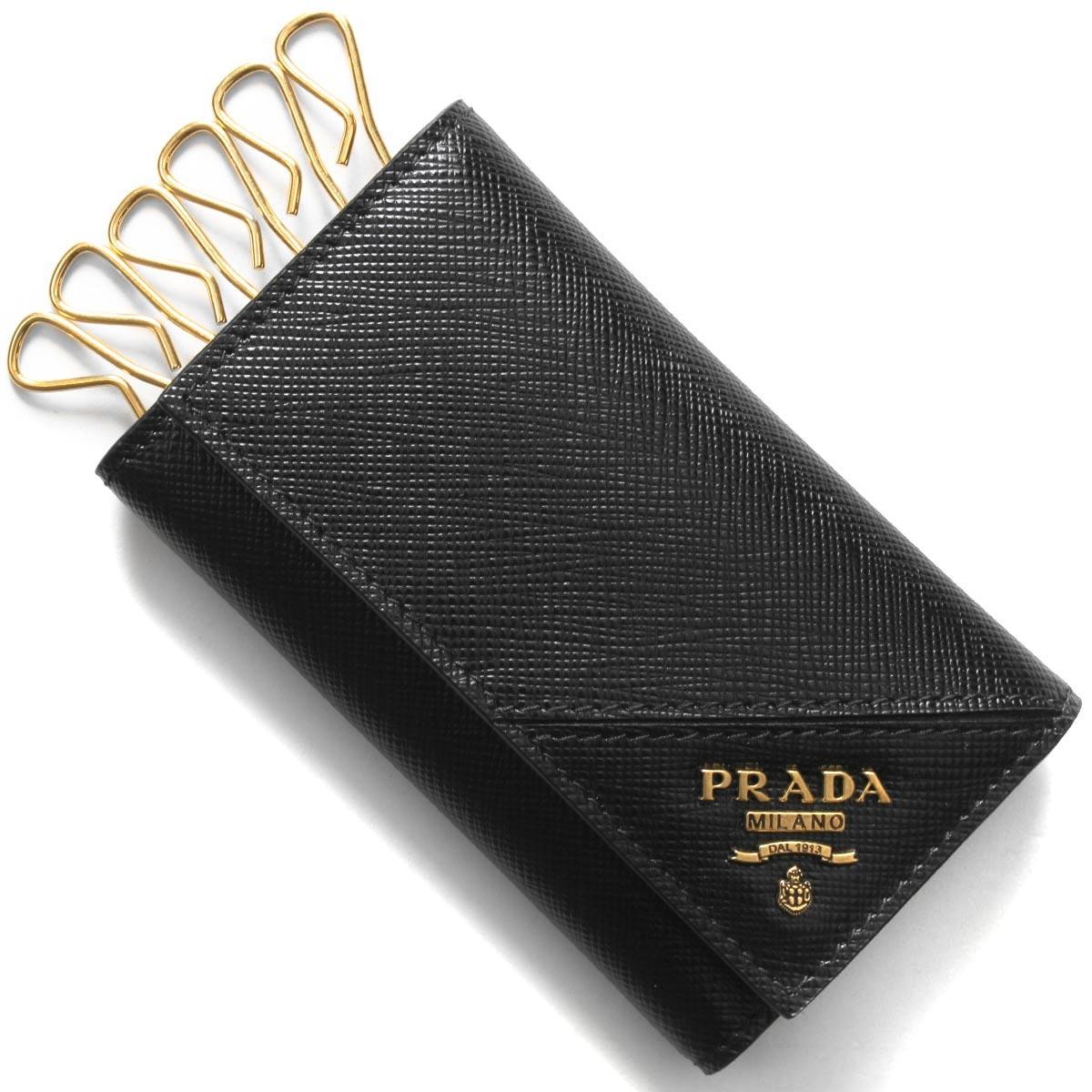 あす楽送料無料 バースデー 記念日 ギフト 贈物 お勧め 通販 プラダ キーケース 新色追加して再販 メンズ サフィアーノ メタル 2021年春夏新作 2PG222 QME F0632 ブラック PRADA