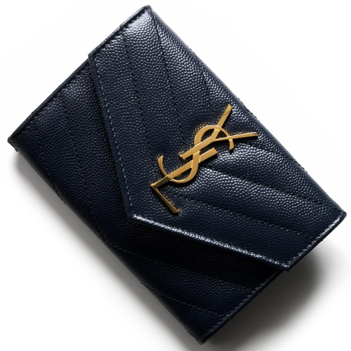 サンローランパリ イヴサンローラン カードケース/名刺入れ レディース モノグラム YSL ダークブルー 414404 BOW01 4128 SAINT LAURENT PARIS