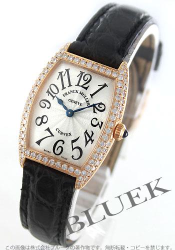 Franck Muller FRANCK MULLER tenor curvex diamond pure gold crocodile leather women's 1752 QZ D