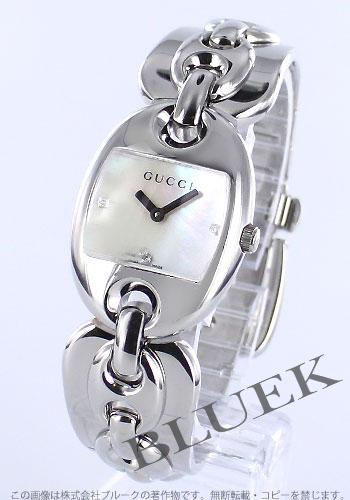 Gucci YA121 Marina chain 3 P diamond white shell Womens YA121504