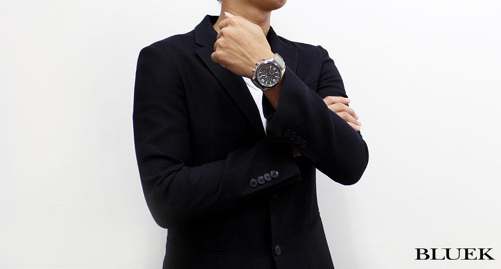 Gucci YA126 G タイムレスクロノグラフレザーアンスラサイトグレーメンズ YA126242