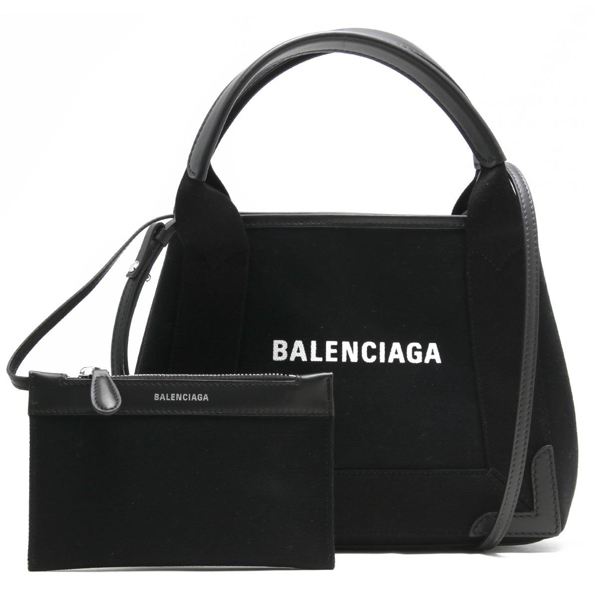 [送料無料][あす楽対応]バレンシアガ BALENCIAGA バッグ トートバッグ 390346 AQ38N 1000 【新品】 【X'masSALE】バレンシアガ トートバッグ/ショルダーバッグ バッグ レディース ネイビーカバス XS ブラック 390346 AQ38N 1000 BALENCIAGA