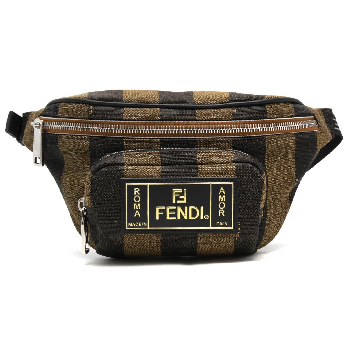 フェンディ ボディバッグ/ショルダーバッグ/ウエストバッグ バッグ メンズ タバコブラウン&ブラック&パラディオ 7VA446 A6HY F164H 2019年秋冬新作 FENDI