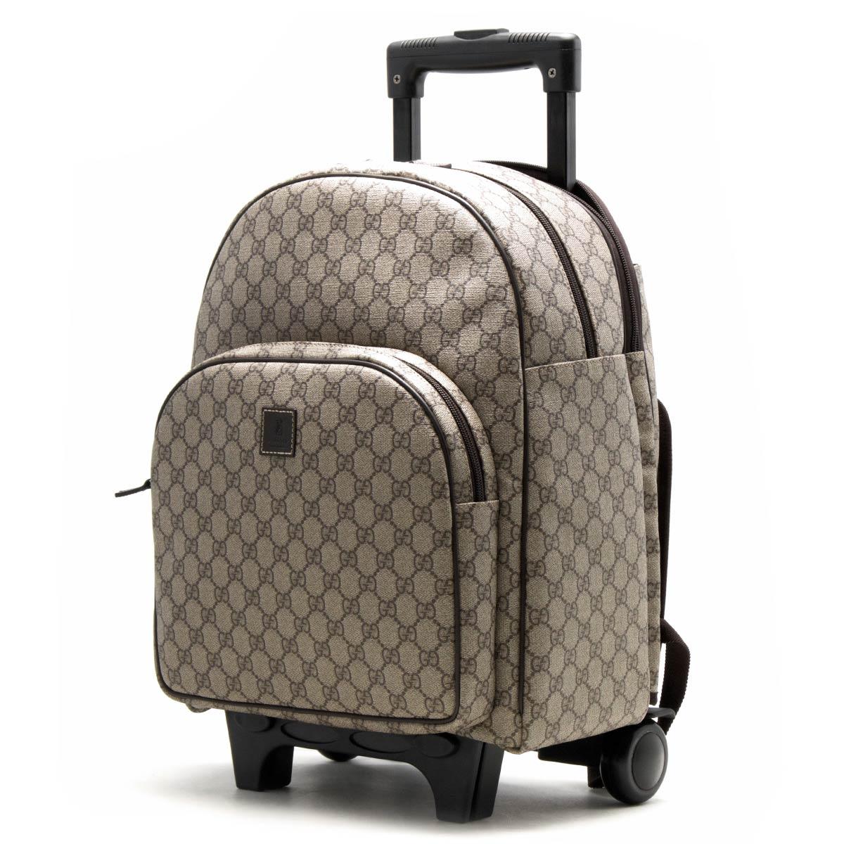グッチ スーツケース/リュックサック バッグ メンズ レディース GGスプリーム ベアー キッズ キャリーバッグ ベージュ&エボニー&ダークブラウン 271341 KGDMN 8805 GUCCI
