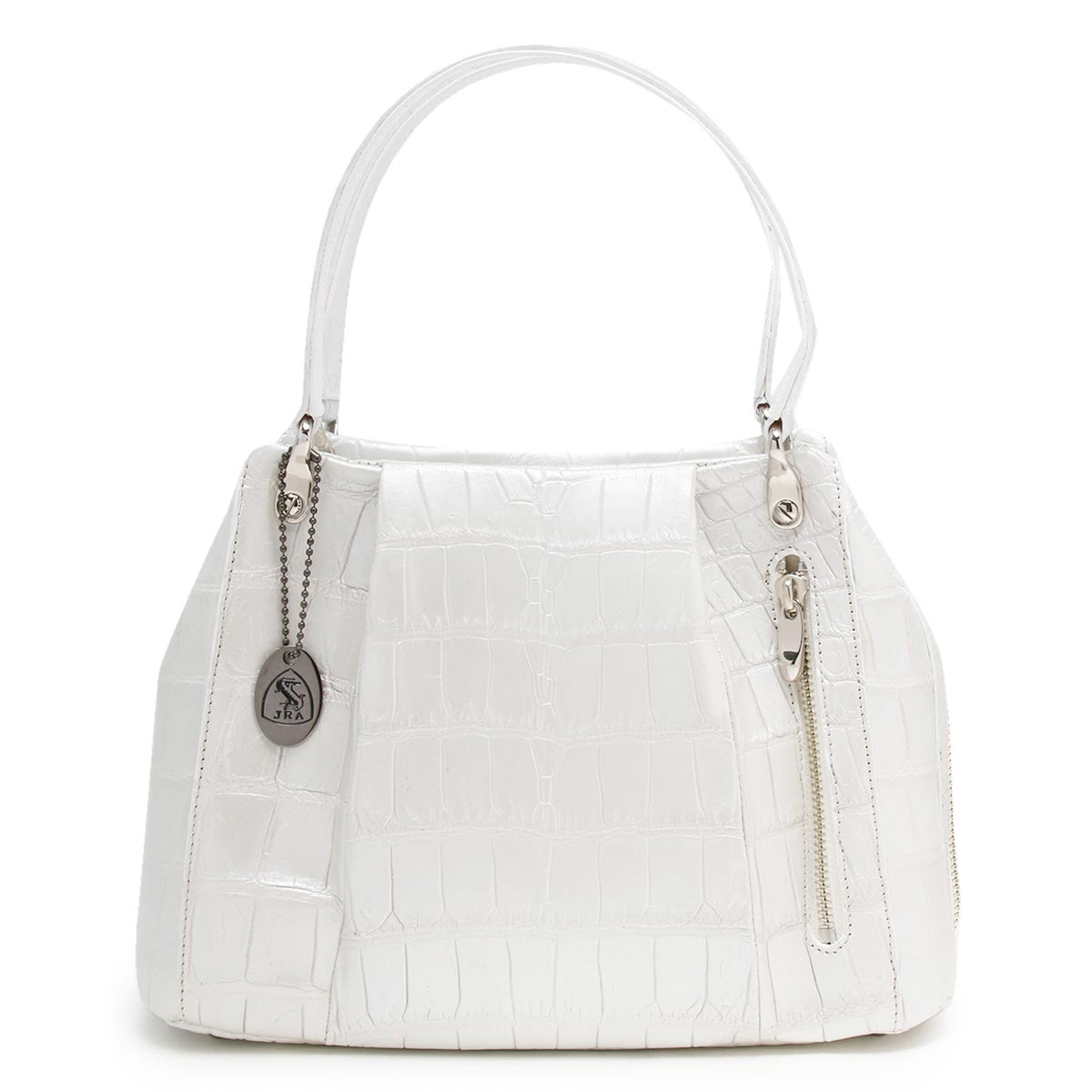 本革 ハンドバッグ バッグ レディース クロコ パールホワイト CRB027 PWH Leather