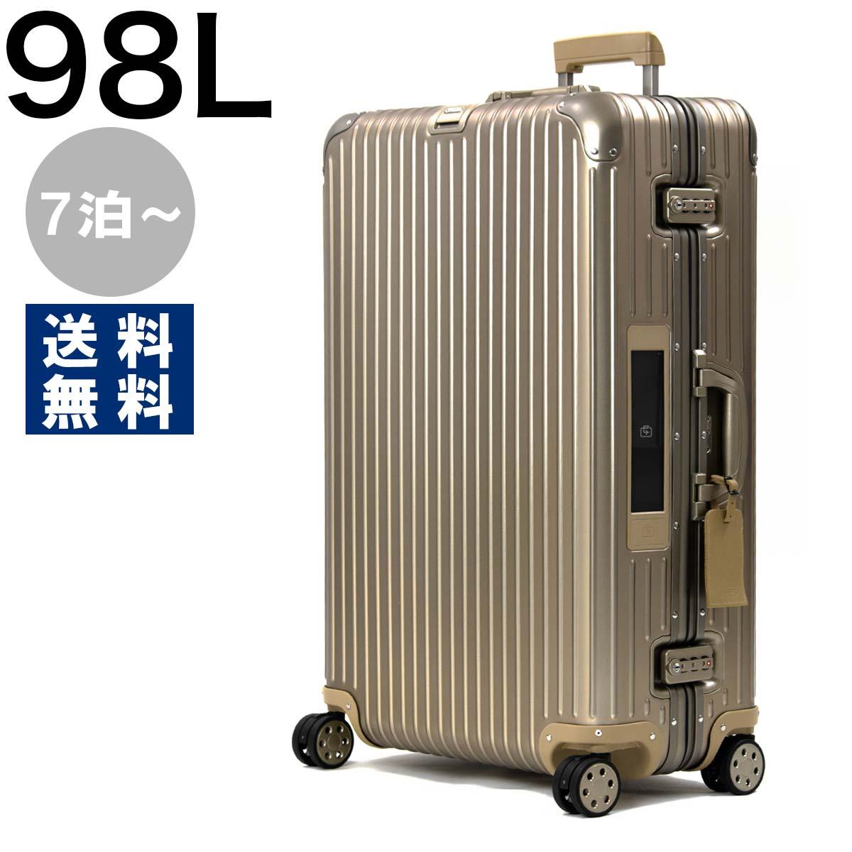 リモワ スーツケース/旅行用バッグ バッグ メンズ レディース トパーズ チタニウム ELECTRONIC TAG 98L シャンパンゴールド 92477035 RIMOWA