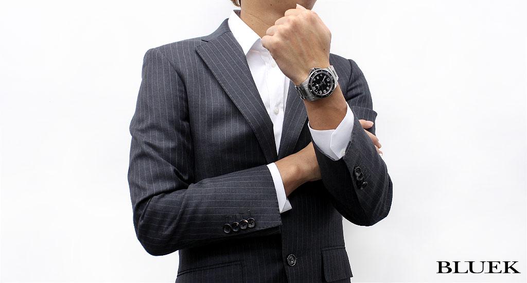 론 진 하이드로 부처의 입 에스트 300 m방수 오토매틱 블랙 맨즈 L3. 695.4. 53.6 손목시계 시계