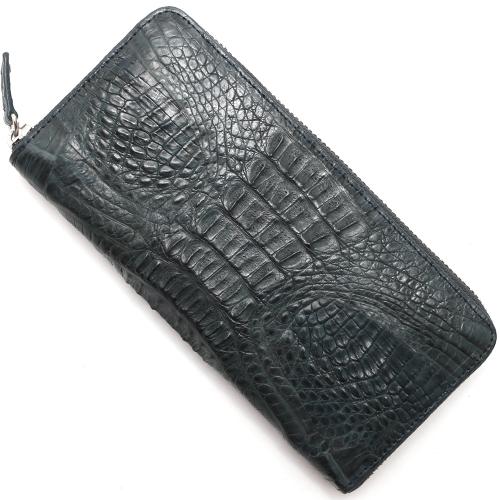 本革 長財布 財布 メンズ レディース カイマンワニ ネイビー CJN0512B NVTMT Leather