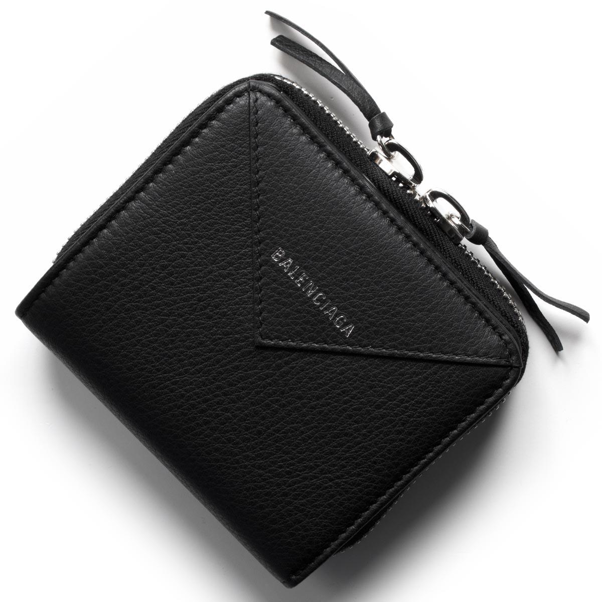 バレンシアガ 二つ折り財布 財布 レディース ペーパー ビルフォールド ブラック 371662 DLQ0N 1000 BALENCIAGA