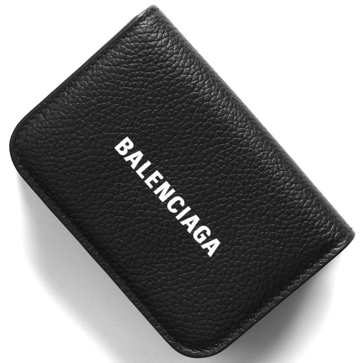 バレンシアガ 三つ折り財布/ミニ財布 財布 レディース キャッシュ ブラック&ブランホワイト 593813 1IZ4M 1090 2020年春夏新作 BALENCIAGA