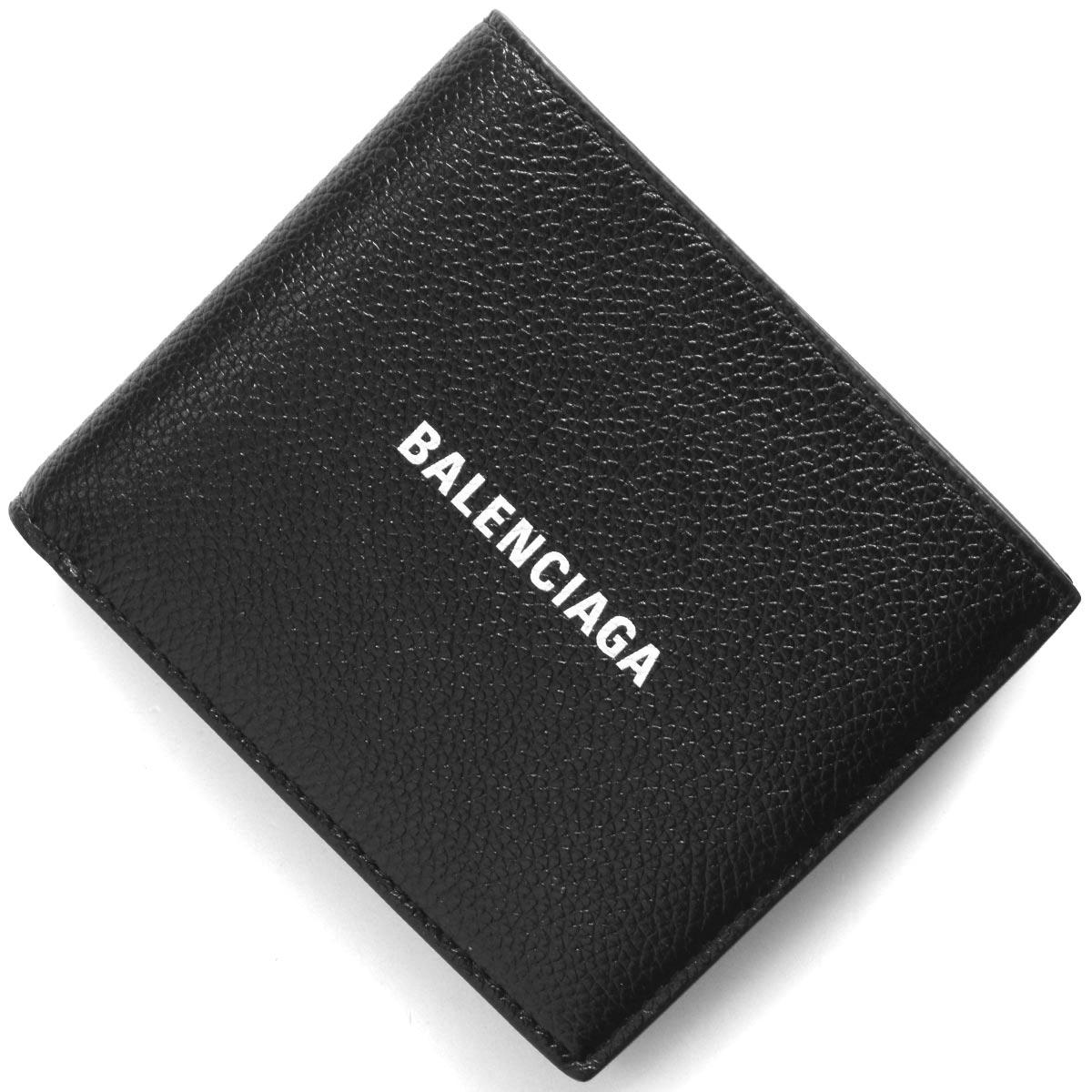 バレンシアガ 二つ折り財布 財布 メンズ レディース キャッシュ ブラック&ブランホワイト 594315 1IZI3 1090 2020年春夏新作 BALENCIAGA
