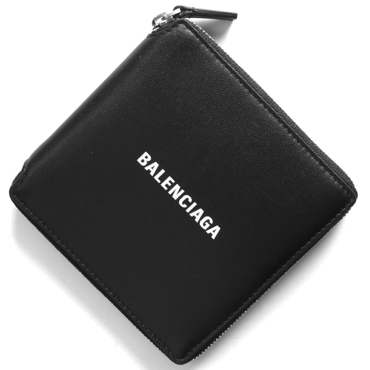 バレンシアガ 二つ折り財布 財布 メンズ レディース キャッシュ ブラック&ブランホワイト 594693 1I353 1090 BALENCIAGA