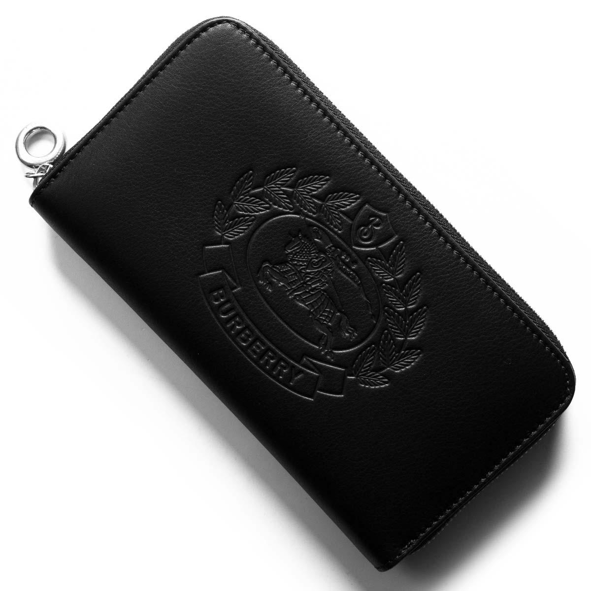 バーバリー 長財布 財布 レディース クレスト ブラック 4077985 00100 BURBERRY