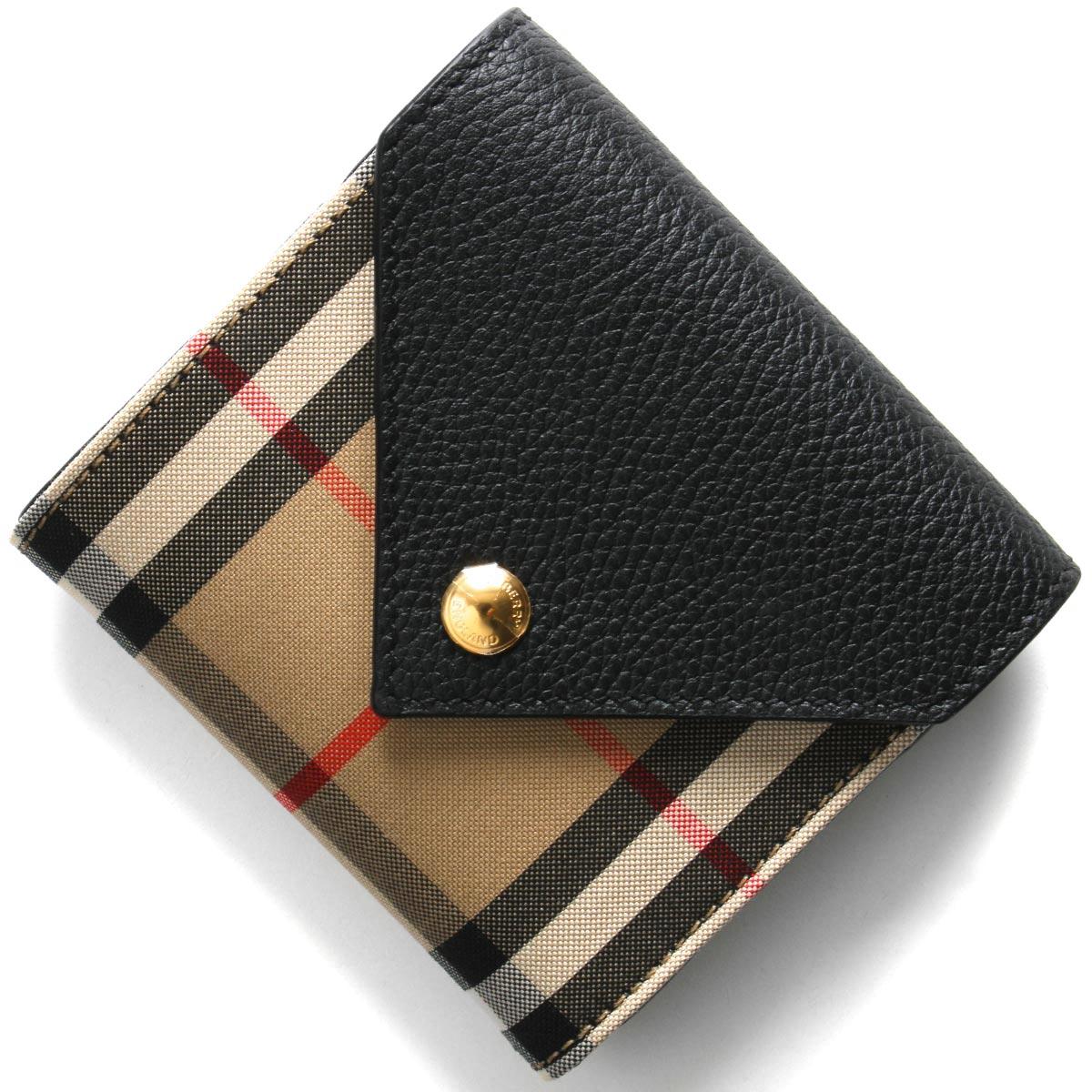 バーバリー 三つ折り財布 財布 レディース リラ ヴィンテージチェック アーカイブベージュ&ブラック LS LILA EV LZ8 116270 A1189 8026114 2020年春夏新作 BURBERRY