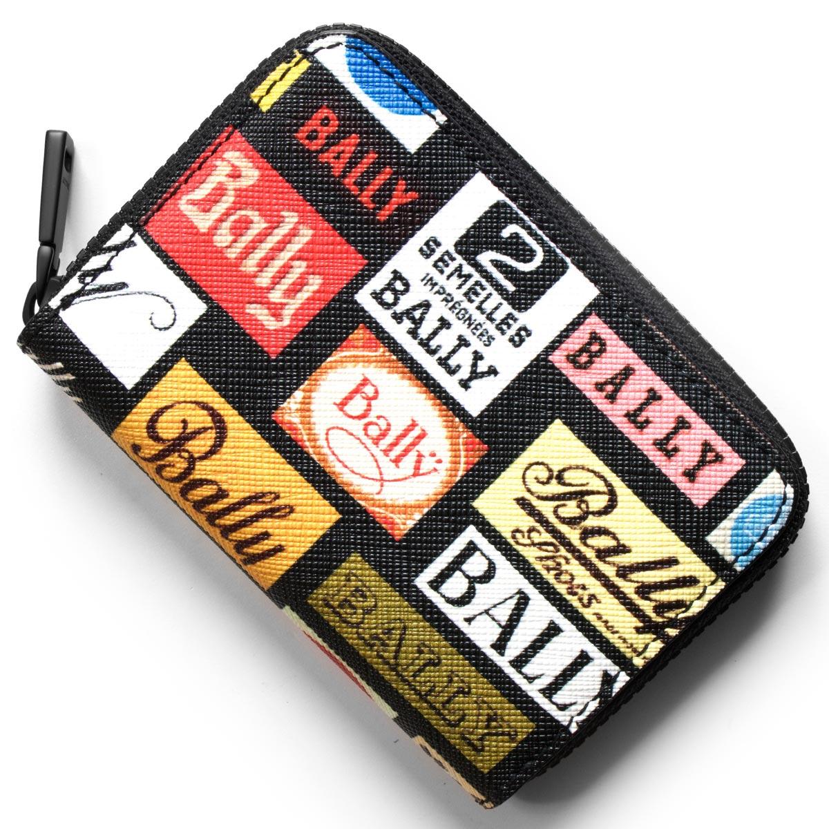 バリー コインケース【小銭入れ】 財布 メンズ ビヴィ BIVY マルチブラック BIVYPL 40 6224344 BALLY