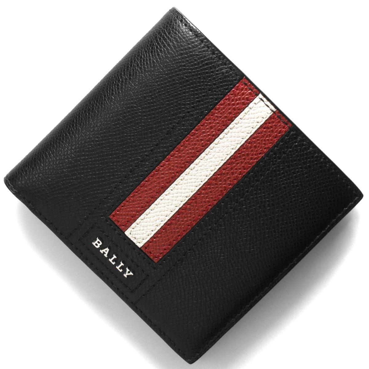 バリー 二つ折り財布 財布 メンズ テイゼル ブラック TEISEL LT 10 6218013 BALLY