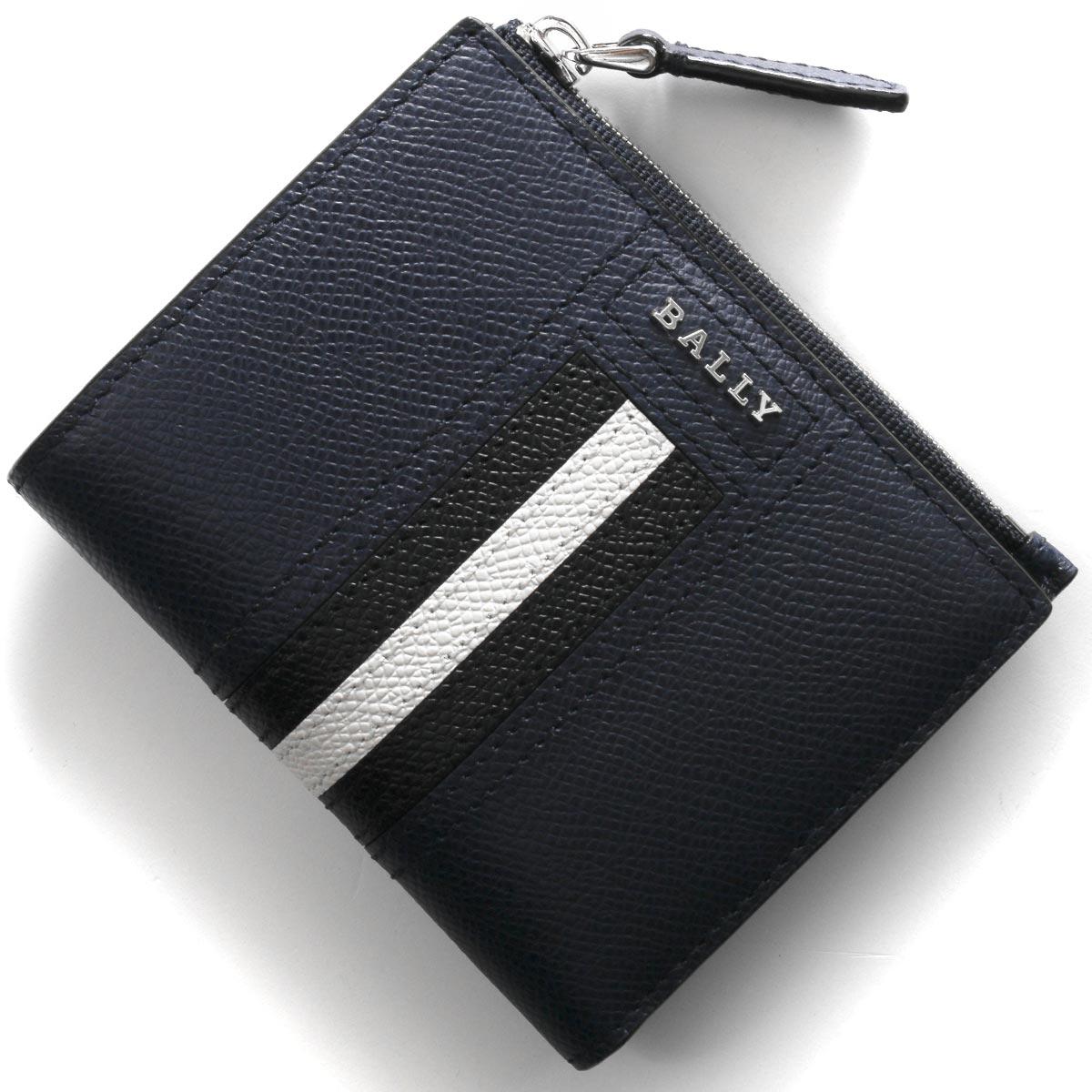 バリー 二つ折り財布 財布 メンズ レディース トゥナー ニューブルー&ブラック TUNNER LT 17 6229037 2019年秋冬新作 BALLY