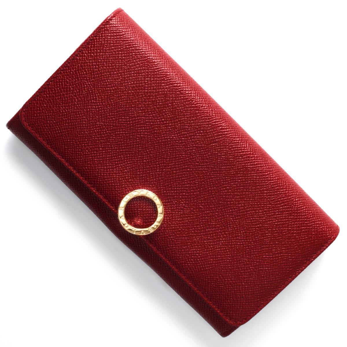 ブルガリ 長財布 財布 レディース ブルガリブルガリ BB ルビーレッド 281436 BVLGARI
