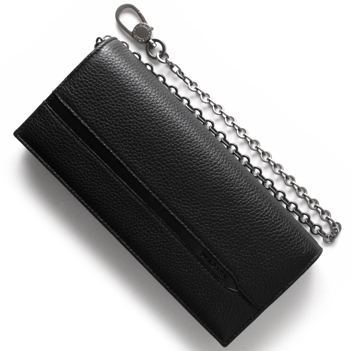 ブルガリ 長財布 財布 メンズ オクト レザー ブラック 36970 BVLGARI