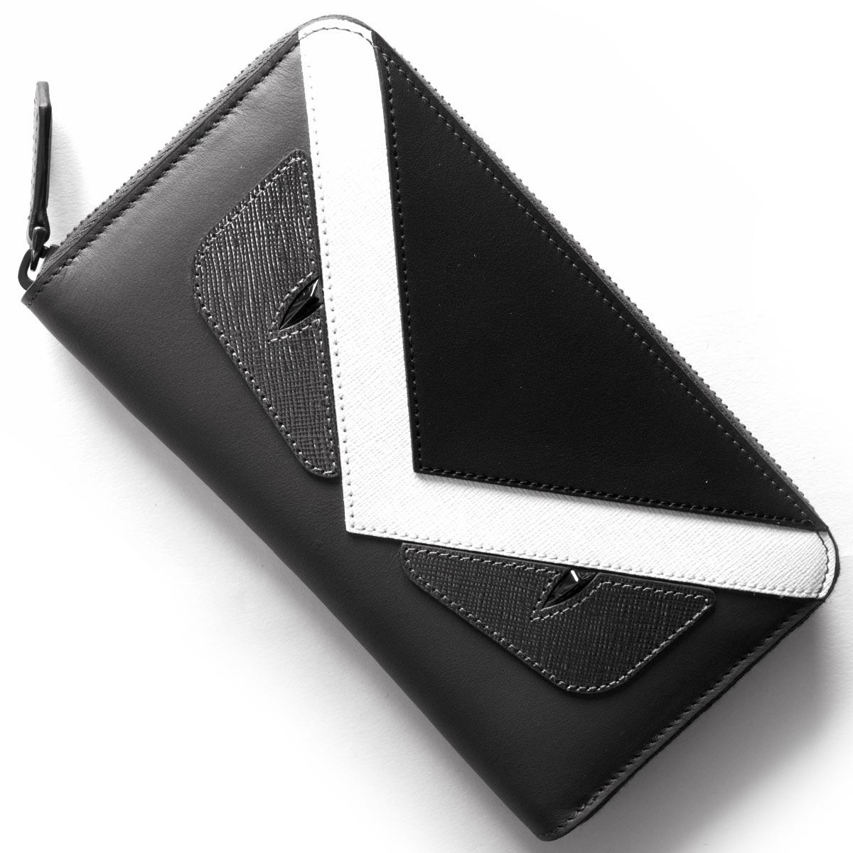buy popular be779 480e4 フェンディ 長財布 財布 メンズ レディース モンスター MONSTER アスファルトグレー&グラファイトブラック&ホワイト 7M0210 8FJ  F06HP FENDI|ブランドショップ ブルーク