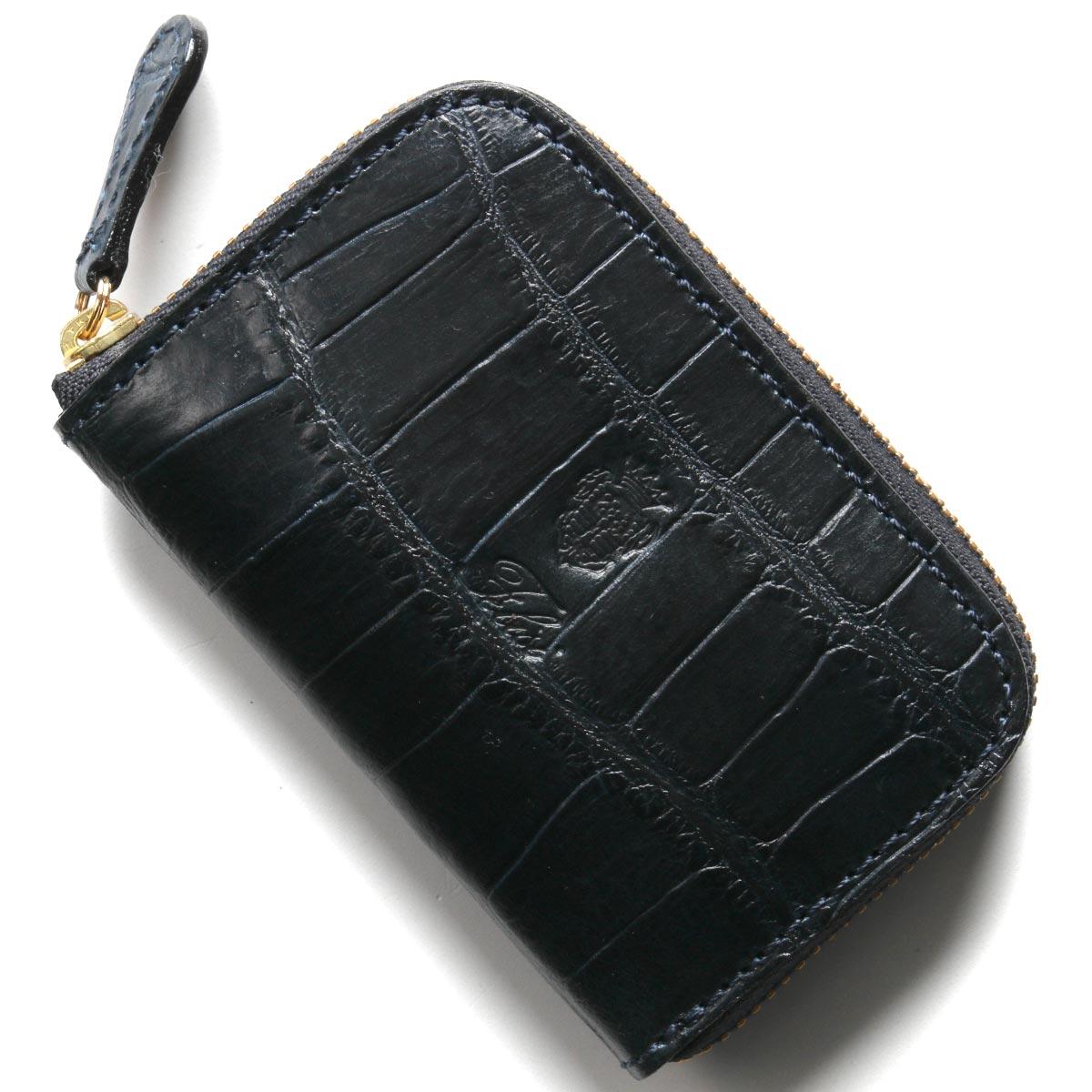 フェリージ コインケース(小銭入れ) 財布 メンズ クロコ型押し ネイビーブルー 166 SA 0005 FELISI