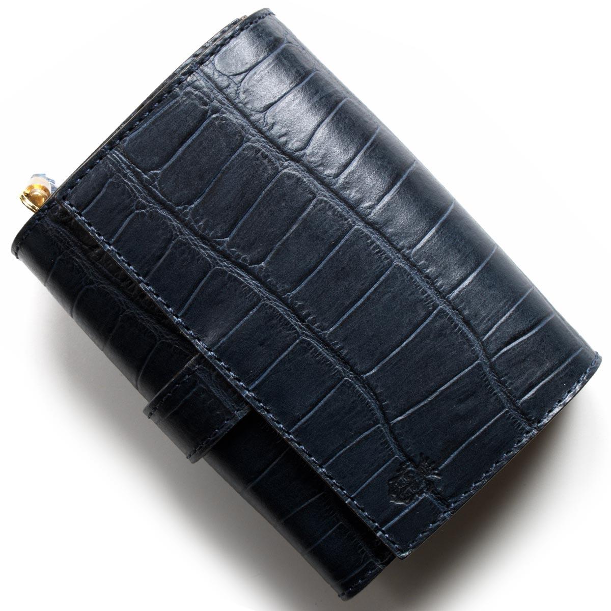 a036878403fd フェリージ二つ折り財布財布メンズレディースクロコ型押しネイビーブルー3500SA0005FELISI フェリージ セレクト
