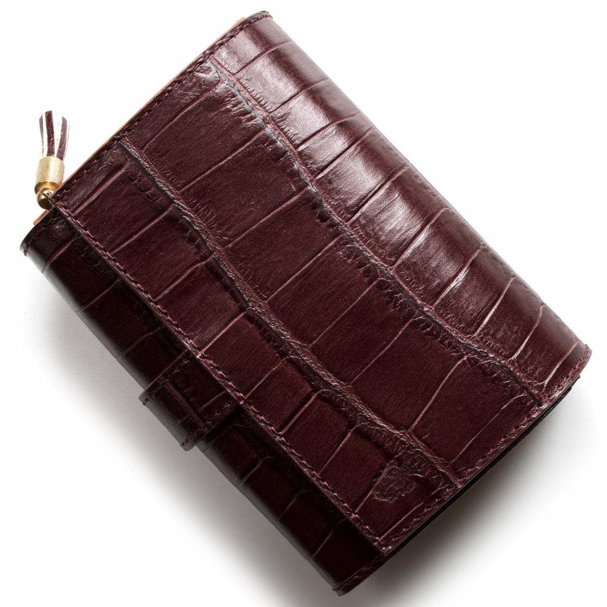 フェリージ 二つ折り財布 財布 メンズ レディース クロコ型押し ボルドー 3500 SA 0026 FELISI