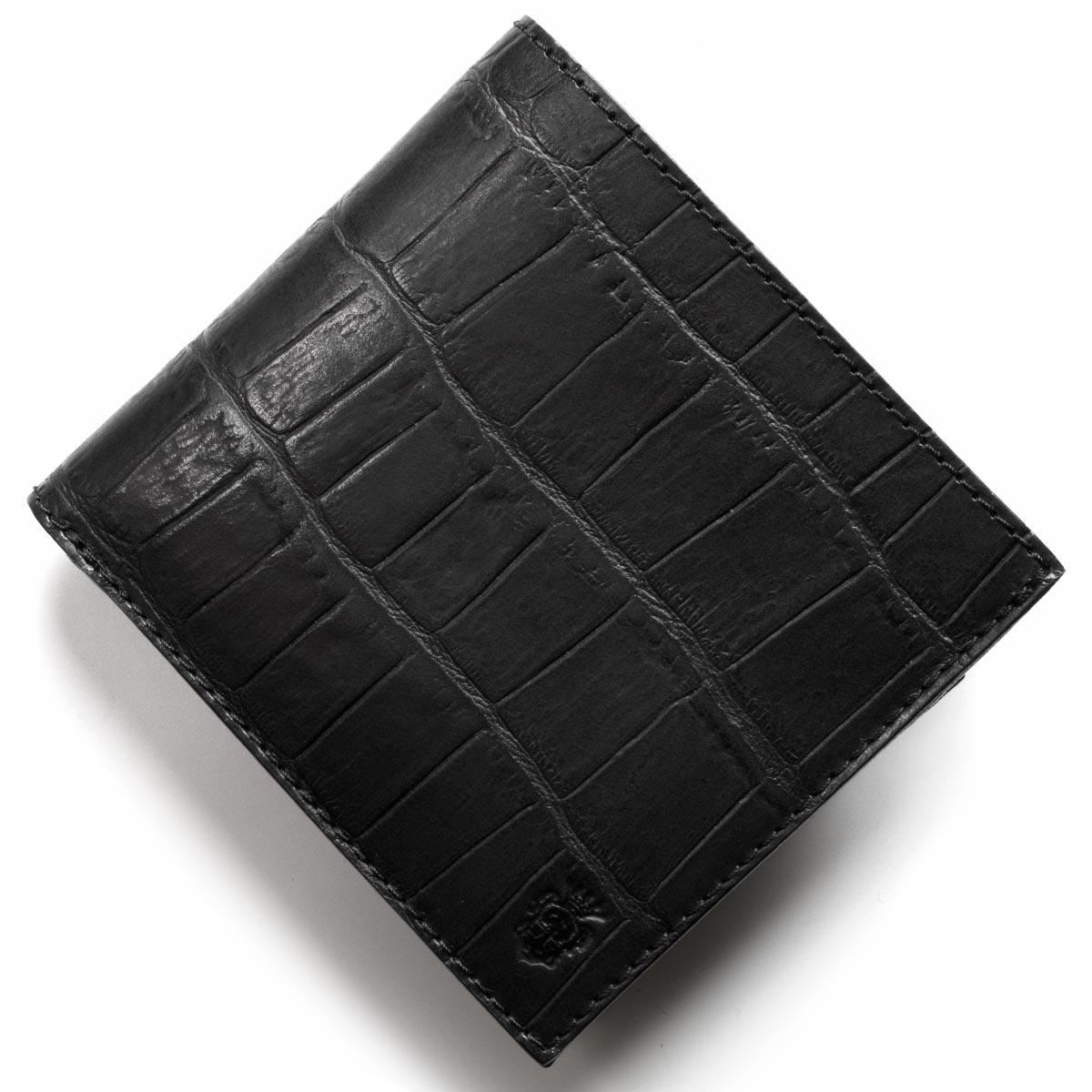 フェリージ 二つ折り財布 財布 メンズ クロコ型押し カードケースセット ブラック 452 SA 0003 2018年春夏新作 FELISI