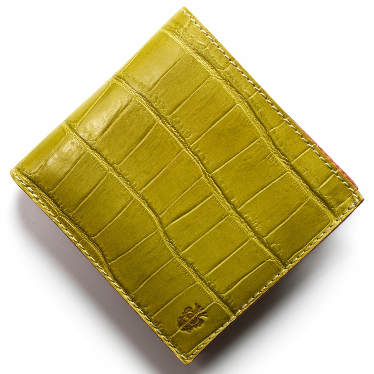 フェリージ 二つ折り財布 財布 メンズ クロコ型押し カードケースセット ヴェルデグリーン 452 SA 0008 2018年春夏新作 FELISI