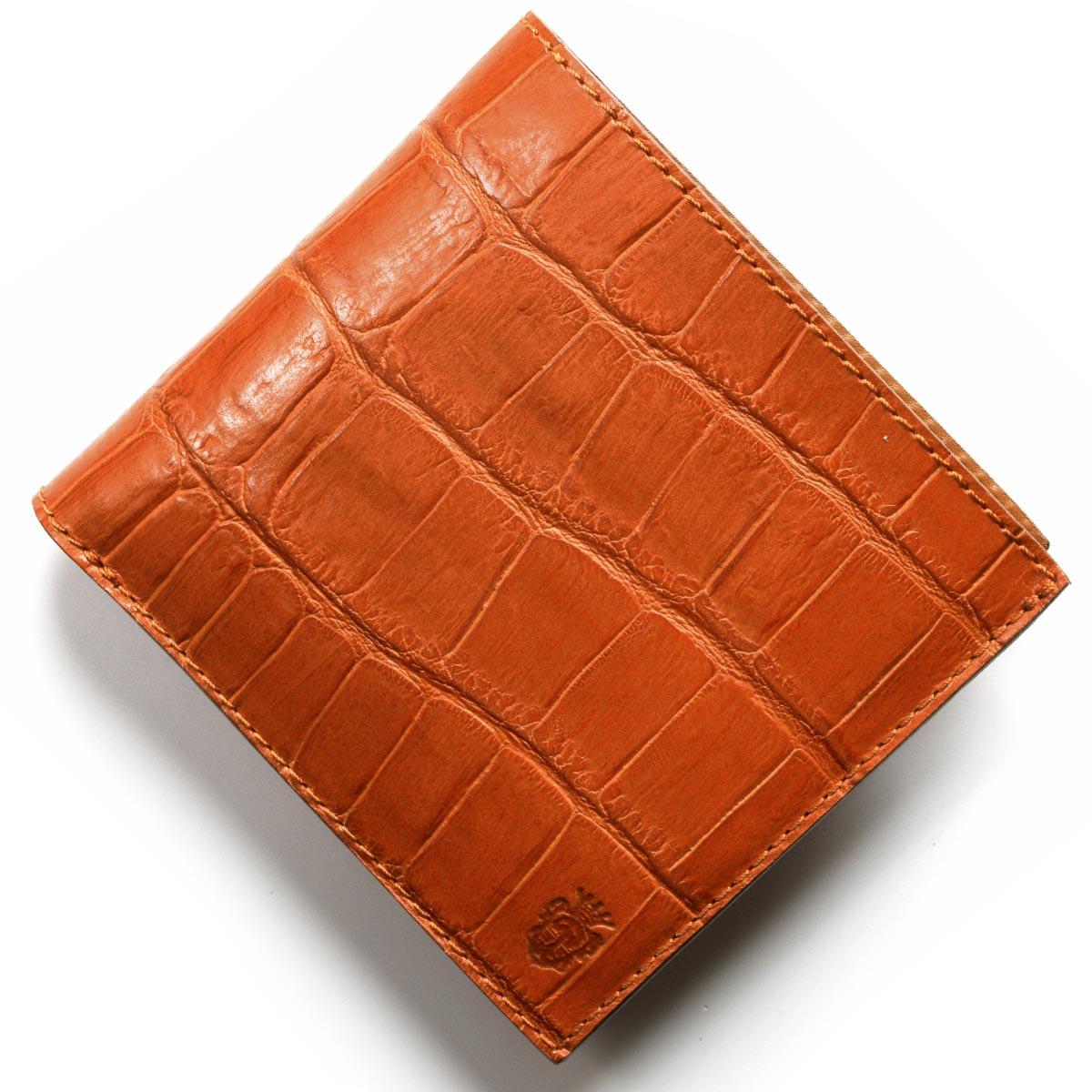 フェリージ 二つ折り財布 財布 メンズ クロコ型押し カードケースセット アランチョオレンジ 452 SA 0009 2018年春夏新作 FELISI