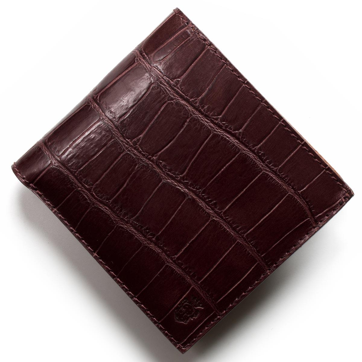 フェリージ 二つ折り財布 財布 メンズ クロコ型押し カードケースセット ボルドー 452 SA 0026 2018年春夏新作 FELISI