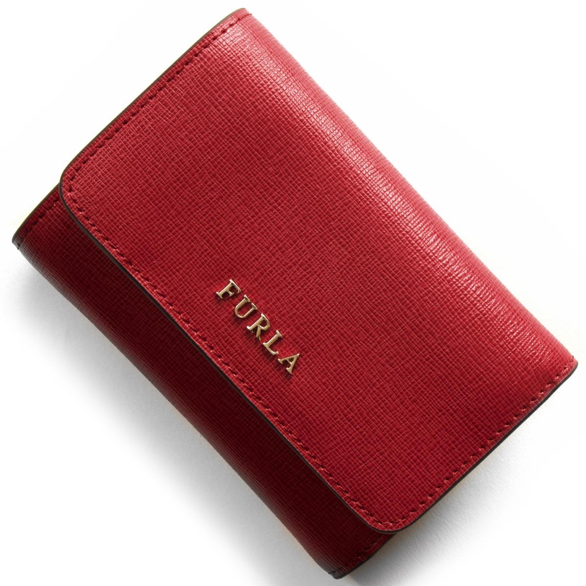 フルラ 三つ折り財布 財布 レディース バビロン BABYLON ルビーレッド PR76 B30 RUB 872819 FURLA