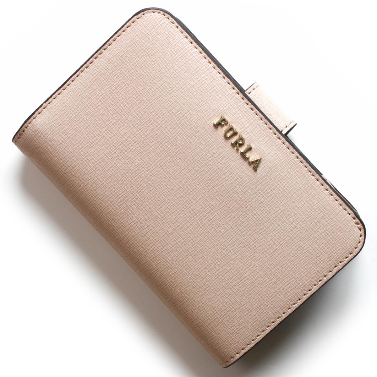 フルラ 二つ折り財布 財布 レディース バビロン ダリアピンクベージュ PR85 B30 TUK 992612 FURLA