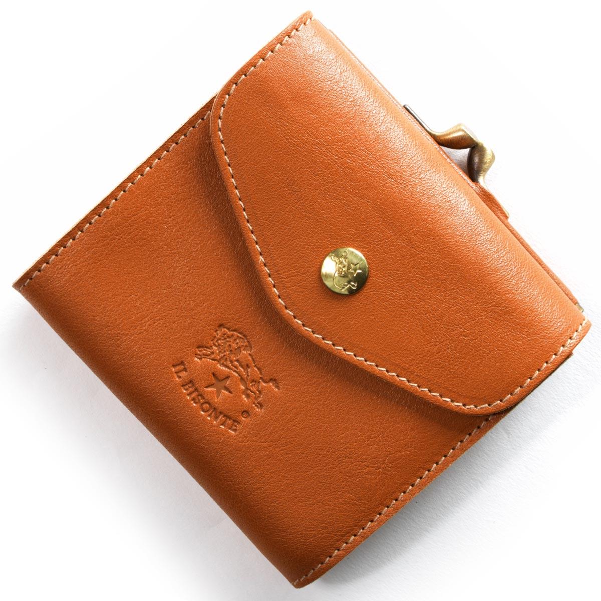イルビゾンテ 三つ折り財布 財布 メンズ レディース スタンダード STANDARD キャラメルブラウン C0423 P 145 IL BISONTE