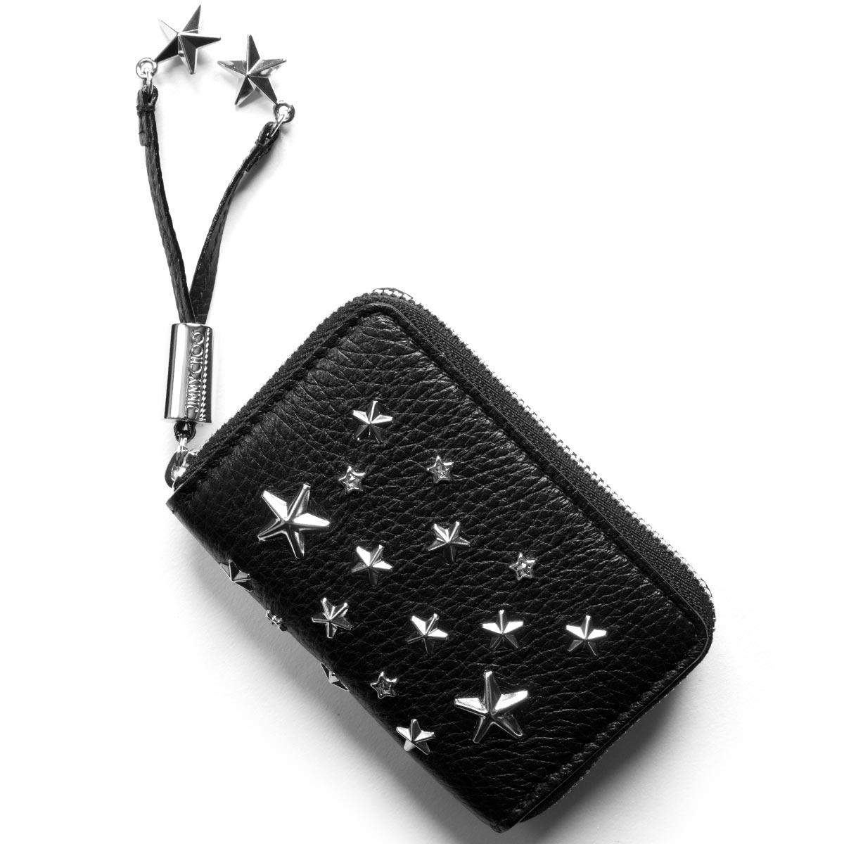 ジミーチュウ コインケース【小銭入れ】 財布 レディース ネリー スタースタッズ STARS ブラック NELLIE DCS BLK JIMMY CHOO