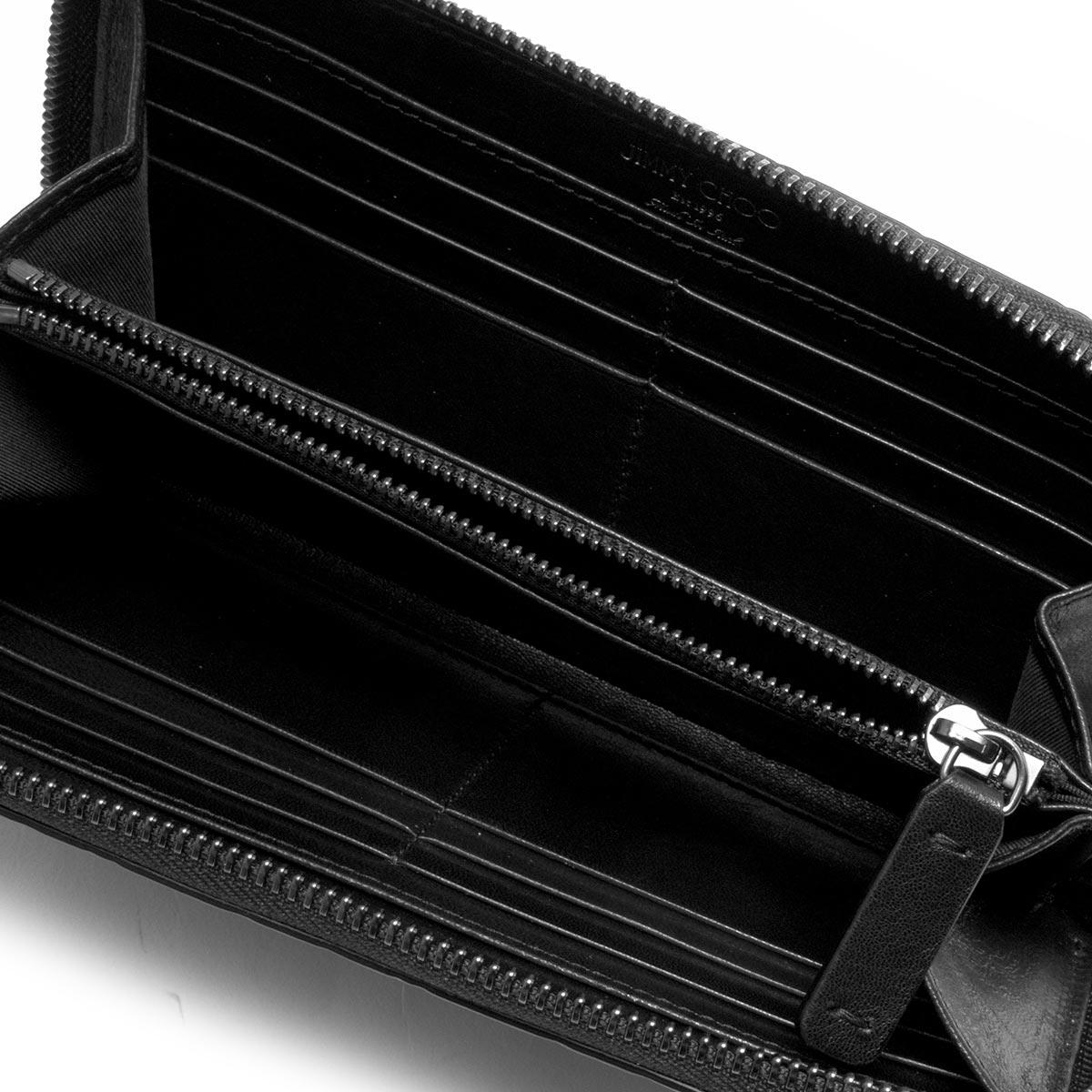 ジミーチュウ 長財布 財布 メンズ レディース カーナビー エンボスド スター ロゴ ブラック CARNABY EJL 183 BLACK JIMMY CHOO