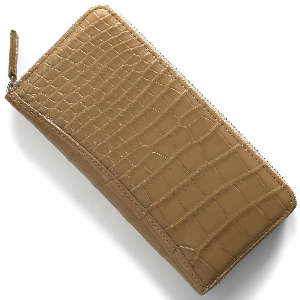 本革 長財布 財布 メンズ レディース クロコ ダークタウベージュ CRS002P DTAU Leather