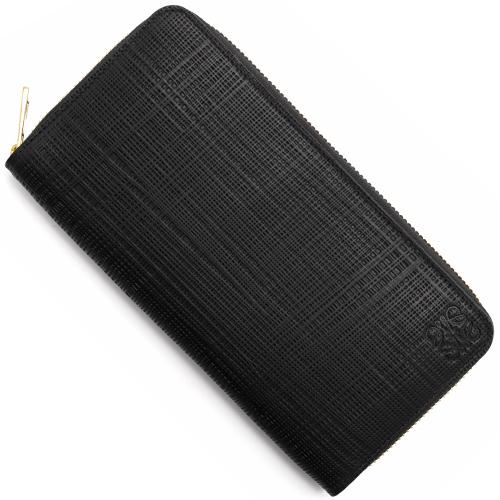 ロエベ 長財布 財布 レディース リネン 【LINEN】 ENGRAVED ブラック 101 N88 1100 F13 LOEWE
