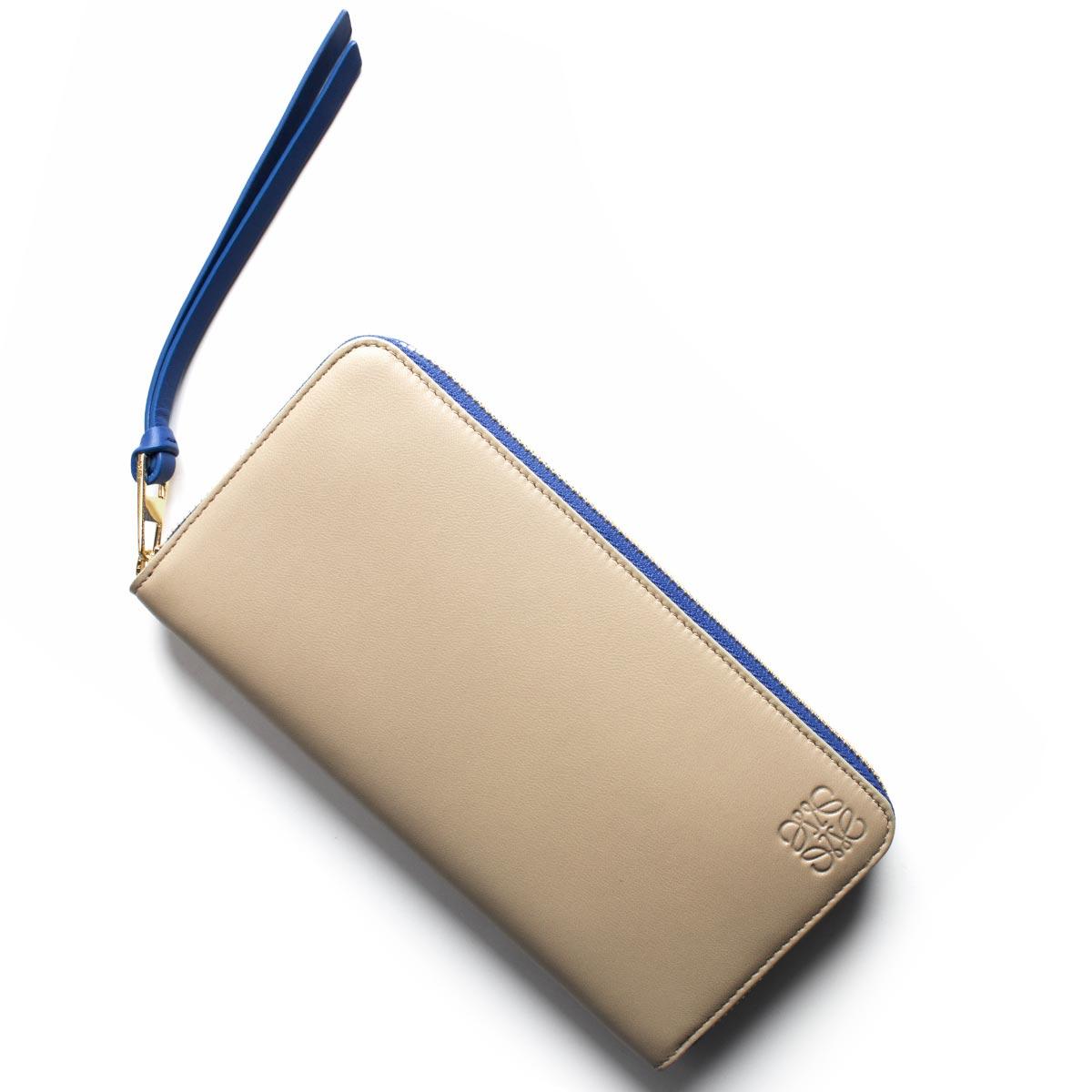 ロエベ 長財布 財布 レディース サンドベージュ&エレクトリックブルー 109 F13 N80 2554 LOEWE