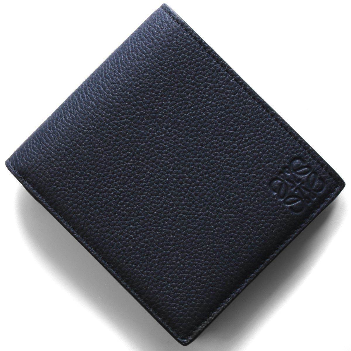 [送料無料][あす楽対応]ロエベ LOEWE 財布 二つ折り財布【札入れ】 124 U01 12 5605 【新品】 ロエベ 二つ折り財布【札入れ】 財布 メンズ バイフォルド ミッドナイトブルーブラックブラウン 124 U01 12 5605 LOEWE